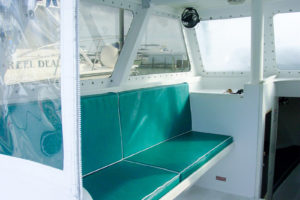 inside cabin of Gulfstream