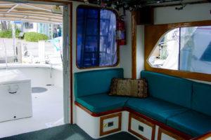 inside cabin of Gulfstream II